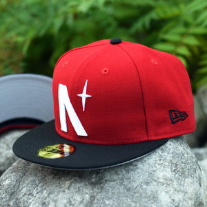 Front - North Star - Red & Black New Era 59Fifty Hat
