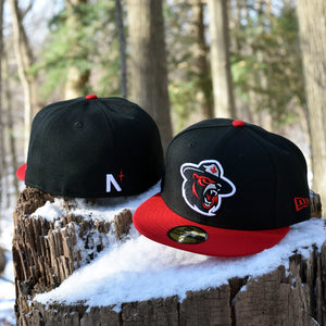 Northern Force - Black & Red New Era 59Fifty - Back