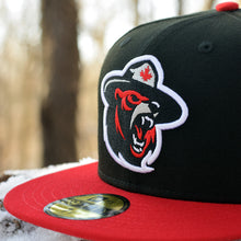 Northern Force - Black & Red New Era 59Fifty Hat - Close Up