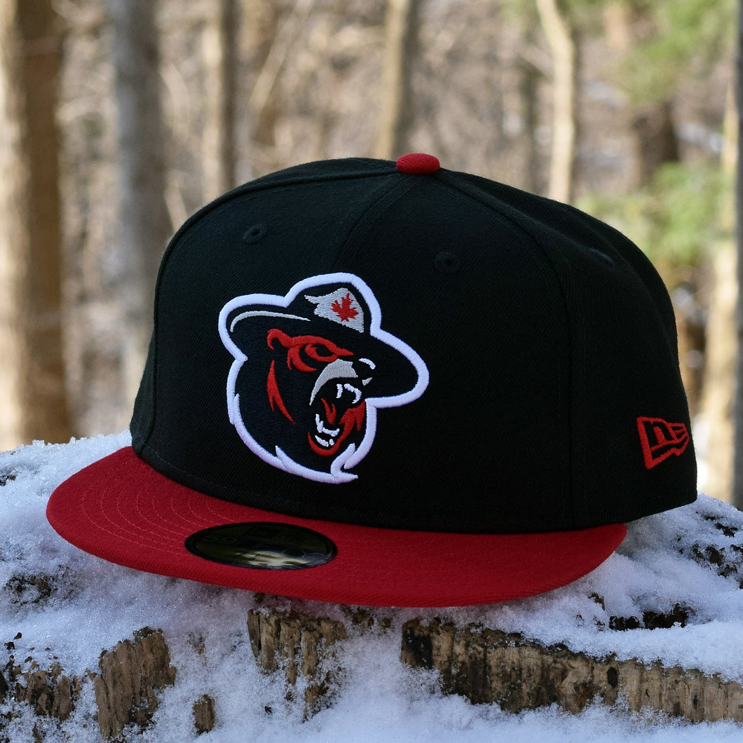 Northern Force - Black & Red New Era 59Fifty Hat - Front