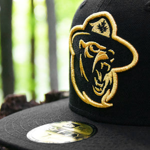 Northern Force - Black Metallic Gold New Era 59Fifty - Close Up