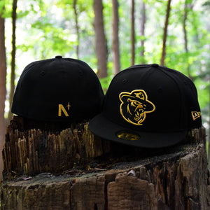 Northern Force - Black Metallic Gold New Era 59Fifty - Front & Back