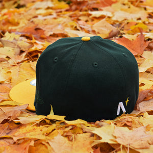 Oak Leaf - Dark Green & Athletic Gold New Era 59Fifty - Back