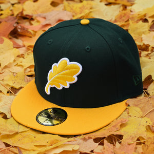 Oak Leaf - Dark Green & Athletic Gold New Era 59Fifty - Front