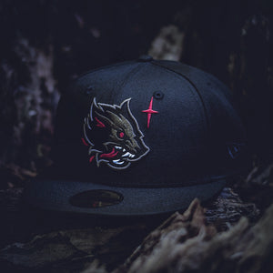 Noble North - Wolf - Black New Era 59Fifty - Front