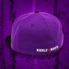 Load image into Gallery viewer, Noble North - Dino Egg - Purple & Black New Era 59Fifty - Back