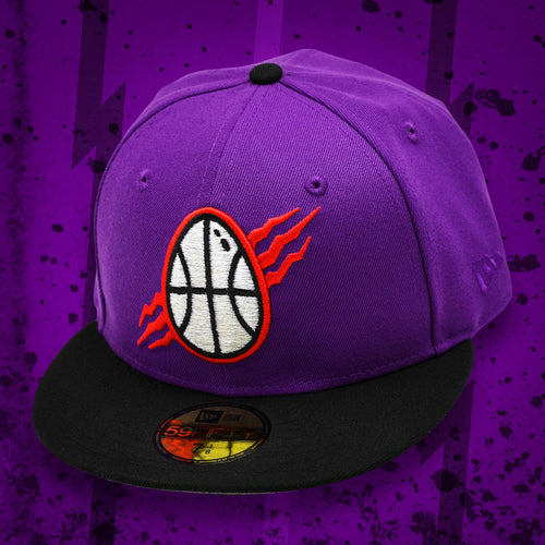 Noble North - Dino Egg - Purple & Black New Era 59Fifty - Front