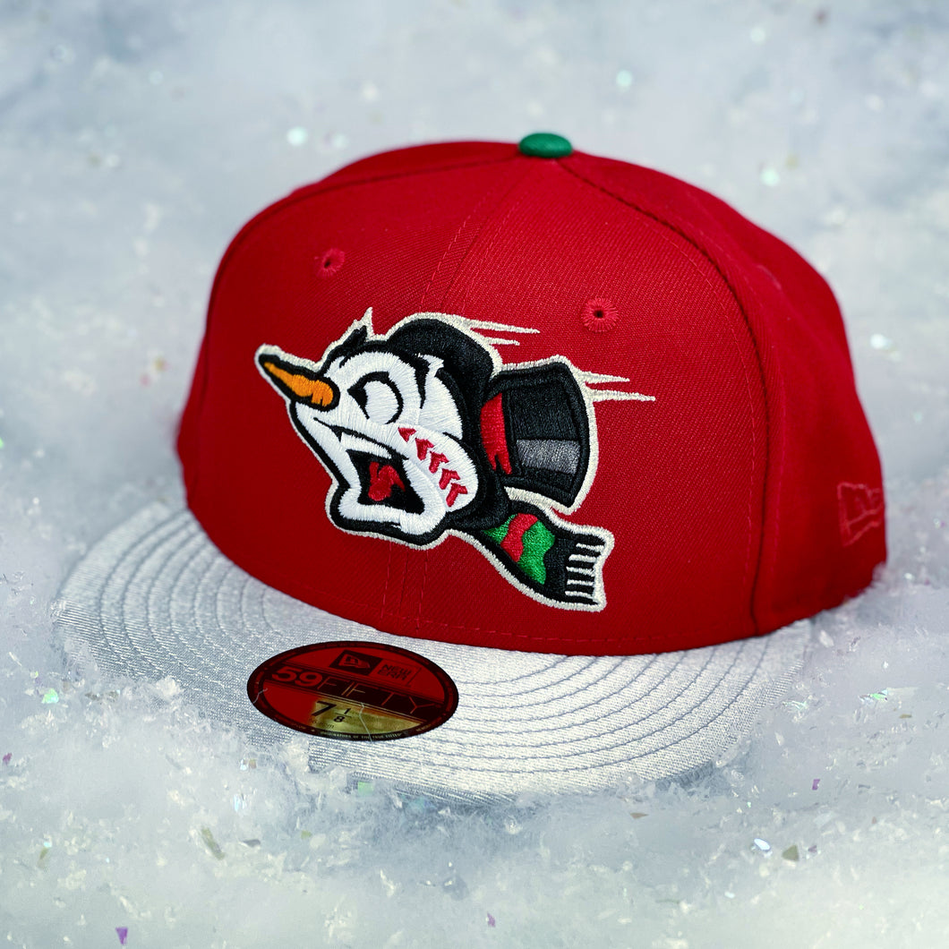 Frost-Eh - Snowman - Red & Icy Silver New Era 59Fifty - Front