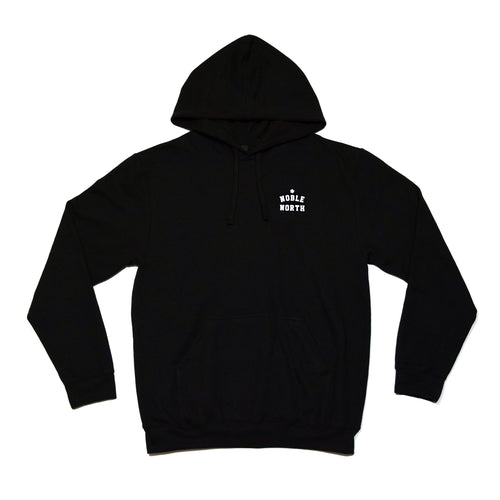 Noble North - Heritage Chest Black Hoodie - Front