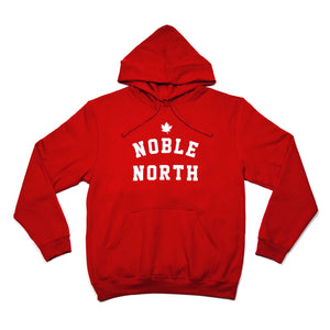 Noble North - Heritage Red Hoodie - Front