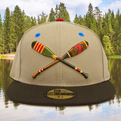 Lake Paddles - Camel & Walnut New Era 59Fifty - Front
