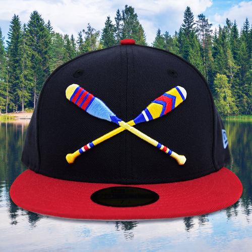 Lake Paddles - Navy & Red New Era 59Fifty - Front