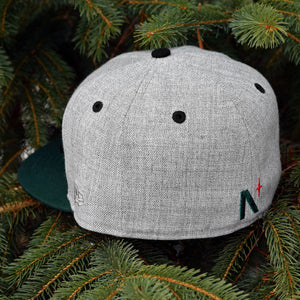 Noble Pines - Grey Heather & Dark Green New Era 59Fifty - Back