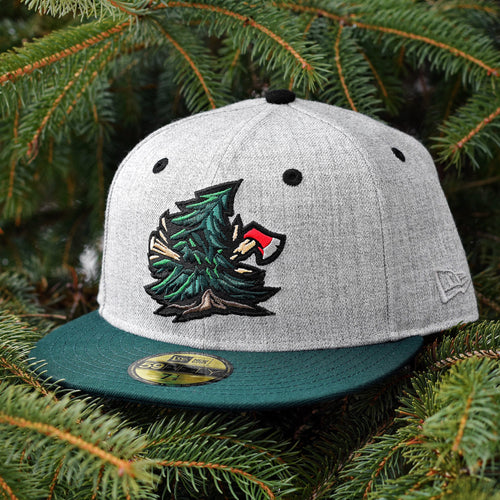 Noble Pines - Grey Heather & Dark Green New Era 59Fifty - Front