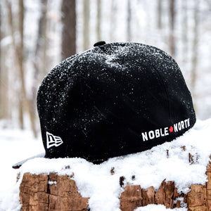 North Star - Black Cotton Canvas New Era 59Fifty - Back
