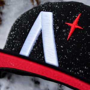 North Star - Black Cotton Canvas New Era 59Fifty - Close Up