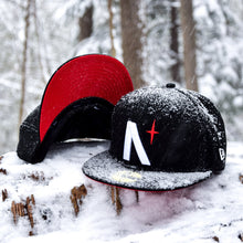 Load image into Gallery viewer, North Star - Black Cotton Canvas with Red Undervisor New Era 59Fifty