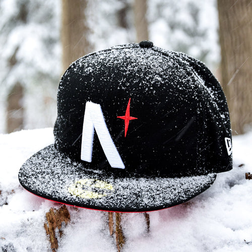 North Star - Black Cotton Canvas New Era 59Fifty - Front