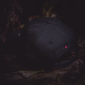 North Star - Blackout Red Maple Leaf New Era 9Fifty Snapback - Black