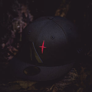 North Star - Blackout Red Star New Era 59Fifty - Front