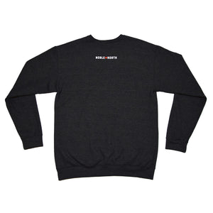 Noble North - North Star Charcoal Heather Crewneck - Front