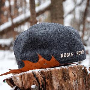 North Star - Grey Melton Wool & Maroon New Era 59Fifty - Back