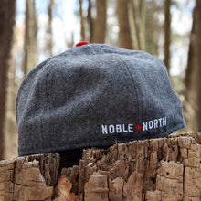 Noble North - North Star - Grey & Red Melton Wool New Era 59Fifty - Back