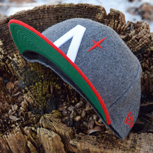 Noble North - North Star - Grey & Red Melton Wool New Era 59Fifty - Undervisor