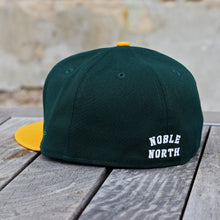 Load image into Gallery viewer, North Star - Heritage - Dark Green & Athletic Gold New Era 59Fifty - Back