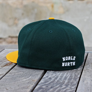 North Star - Heritage - Dark Green & Athletic Gold New Era 59Fifty - Back