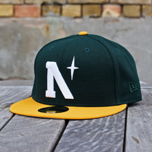 Load image into Gallery viewer, North Star - Heritage - Dark Green & Athletic Gold New Era 59Fifty - Front