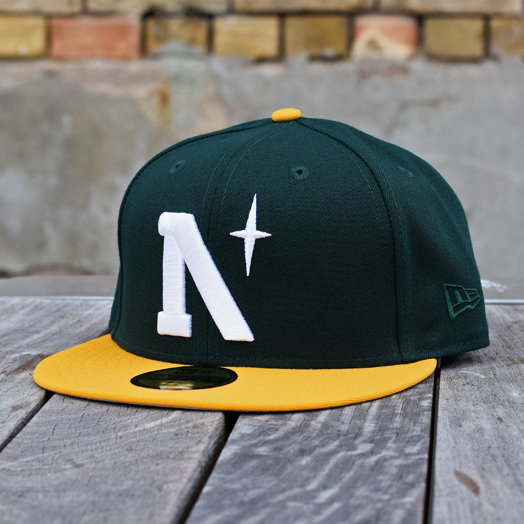 North Star - Heritage - Dark Green & Athletic Gold New Era 59Fifty - Front