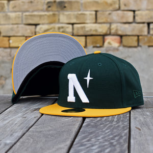 North Star - Heritage - Dark Green & Athletic Gold New Era 59Fifty - Undervisor