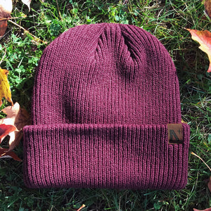 Noble North - North Star - Maroon Longshoreman Beanie