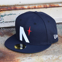 Load image into Gallery viewer, Noble North - North Star - Navy New Era 59Fifty - Front