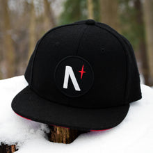Load image into Gallery viewer, North Star - Patch - Black Flannel Snapback (Kids)