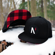 North Star - Patch - Black Flannel Snapback (Kids)