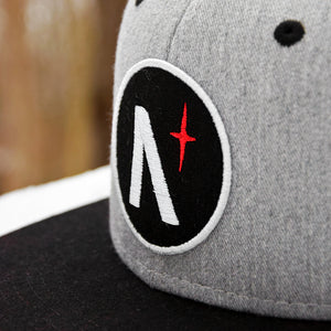North Star - Patch - Grey Heather & Black Flannel Snapback (Kids)