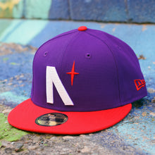 Load image into Gallery viewer, North Star - Purple & Red New Era 59Fifty
