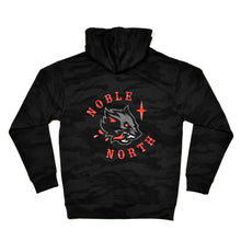 Load image into Gallery viewer, Wolf - Black Camo Hoodie (Unisex) - Back