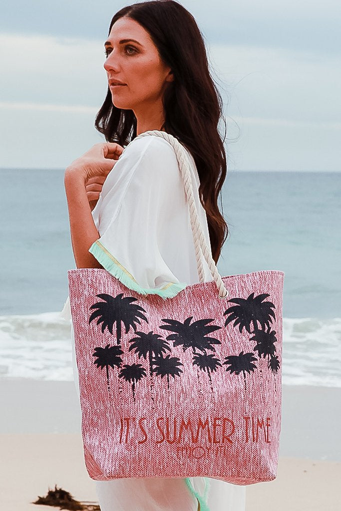 Summertime Beach Tote - Pink