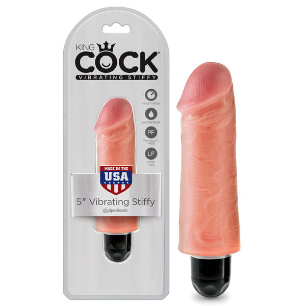 "king cock 5"" stiffy vibe front image saucy hq"
