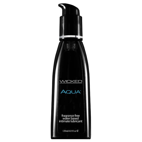 wicked aqua unscented lubricant 120ml bottle front image saucy hq