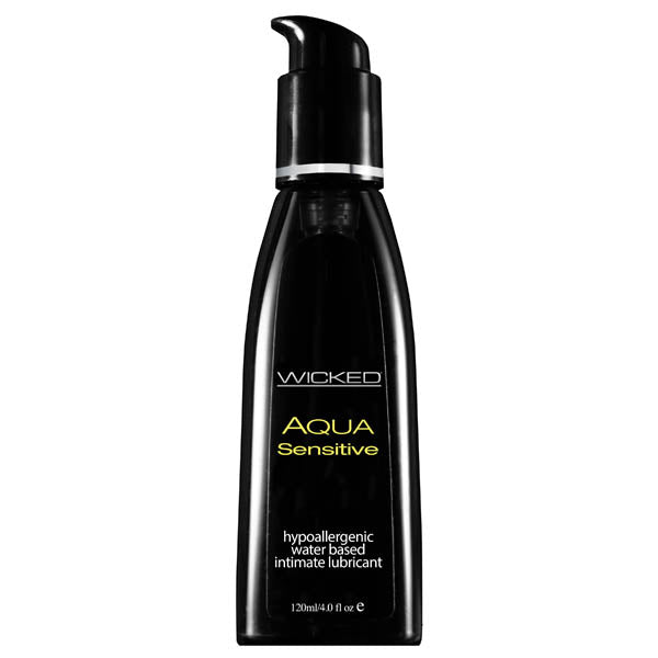 wicked aqua sensitive lubricant 120ml bottle front image saucy hq