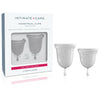 jimmyjane menstrual cups clear 2pce set front image saucy hq