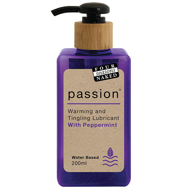 four season passion lubricant 200ml bottle front image saucy hq