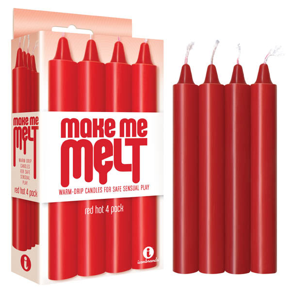 Make Me Melt Drip Candles 4Pk Red Front Image Saucy HQ