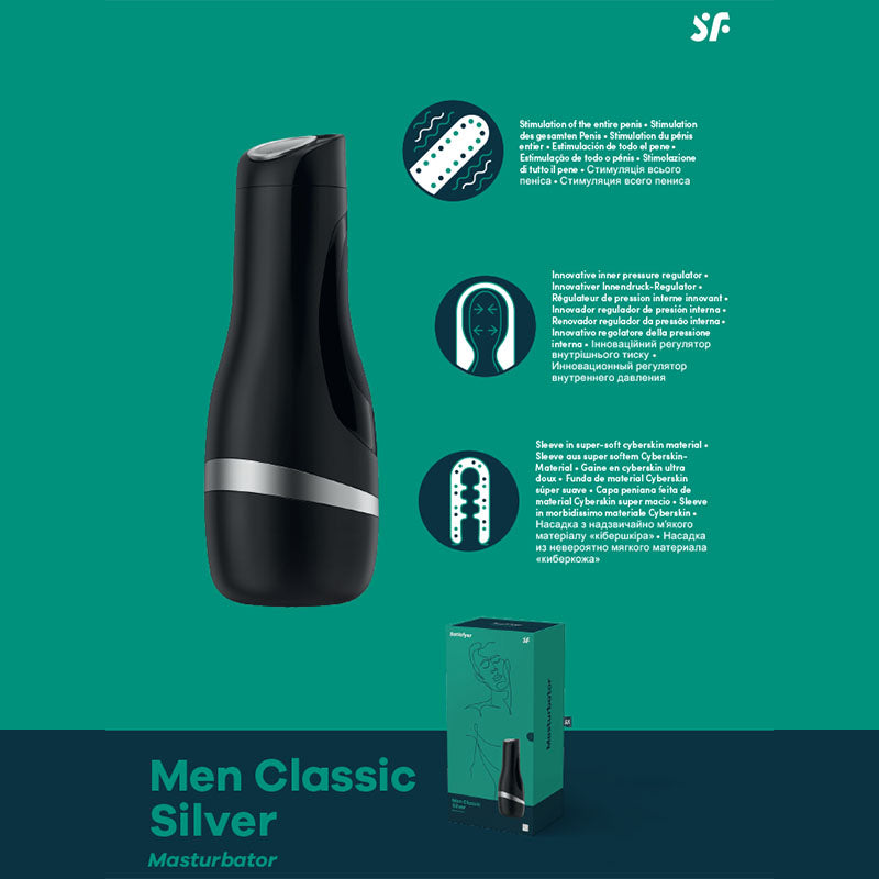 Satisfyer Mend Classic Stroker Silver