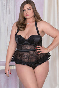 Indulge Satin & Lace Bustier