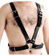 BRA002 Half body leather harness for men front image saucy hq